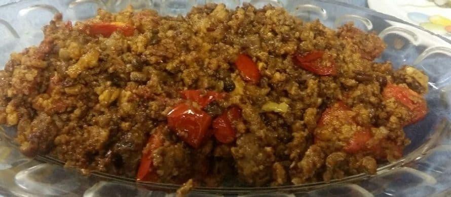 مراحل و نحوه پخت واویشکا با گوشت و سیب زمینی