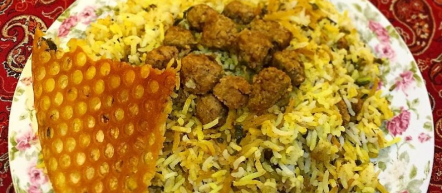 مواد لازم برای پخت زیره پلو کرمان با گوشت