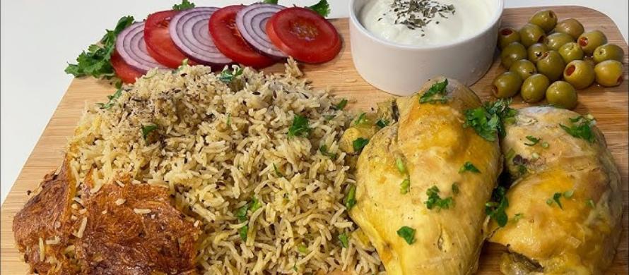 مواد لازم برای پخت زیره پلو کرمان با مرغ